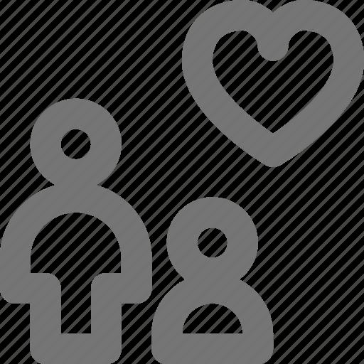 avatar, favorite, group, heart, human, like, profile, user icon