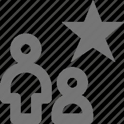 favorite, group, profile, star, user icon