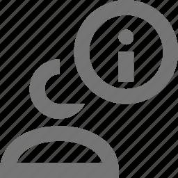 information, profile, user icon