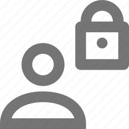 lock, profile, security, user icon