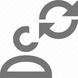 arrows, profile, refresh, reload, sync, user icon