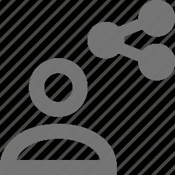 profile, share, user icon