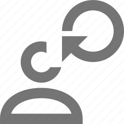 arrow, profile, refresh, reload, sync, user icon