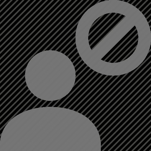 block, stop, user icon