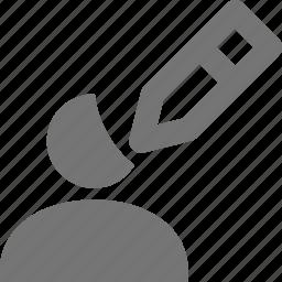 edit, pencil, user icon
