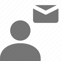 email, envelope, mail, message, user icon