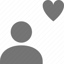favorite, heart, like, user icon