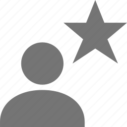 favorite, star, user icon