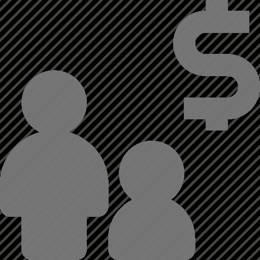 dollar, money, users icon