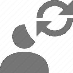 arrows, refresh, reload, sync, user icon