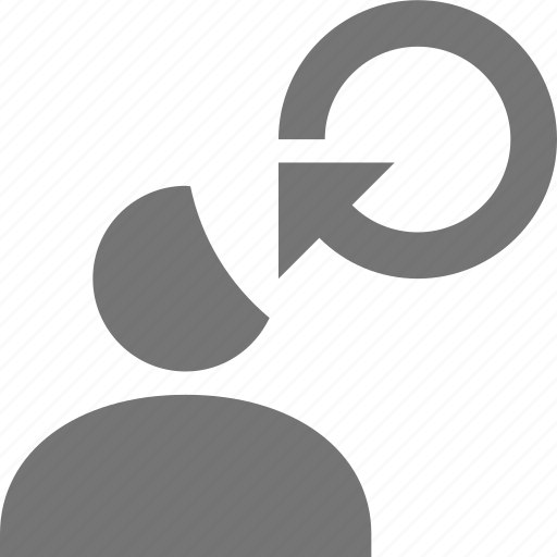 arrow, refresh, reload, sync, user icon