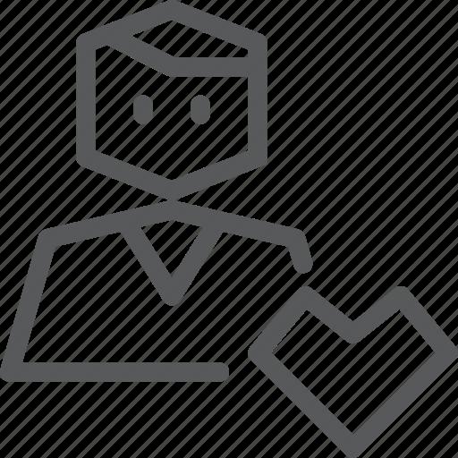account, action, avatar, favorite, heart, person, profile, user icon