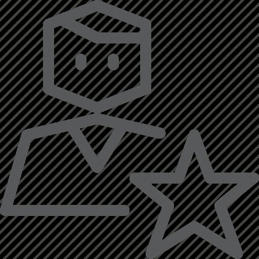 account, action, avatar, favorite, person, profile, star, user icon