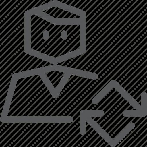 account, action, avatar, person, profile, refresh, sync, user icon