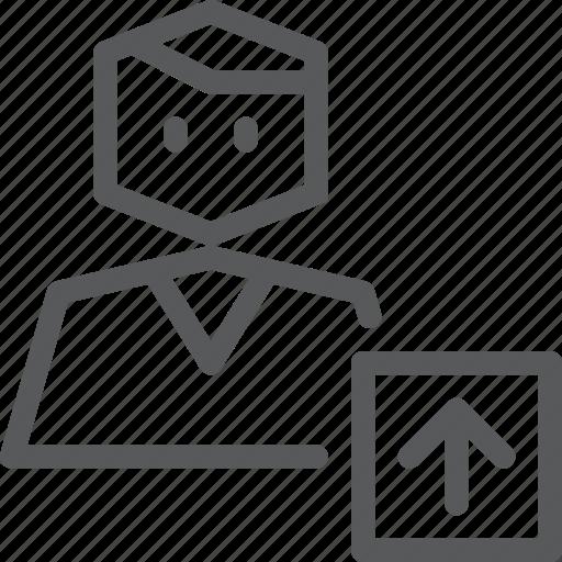 account, action, avatar, person, profile, send, upload, user icon