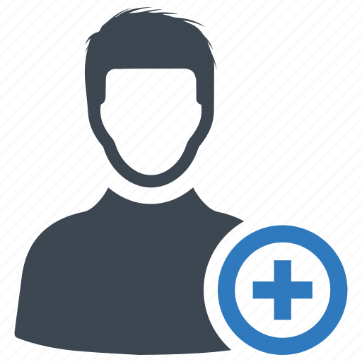 account, add, user icon