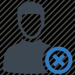 account, remove, user icon