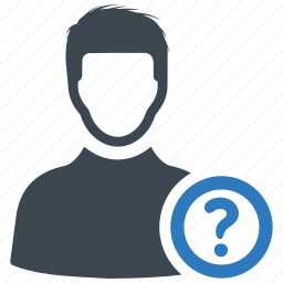 account, question, user icon