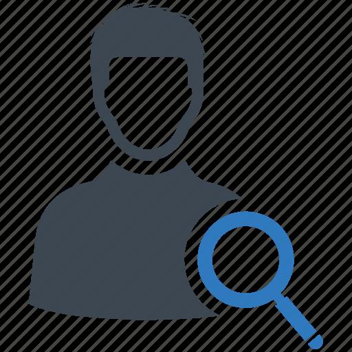 account, search, user icon