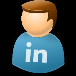 linkedin, user icon