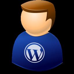 user, wordpress icon