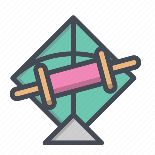 Fetival, fly, kite, patang, rollar, sky, string icon - Download on Iconfinder