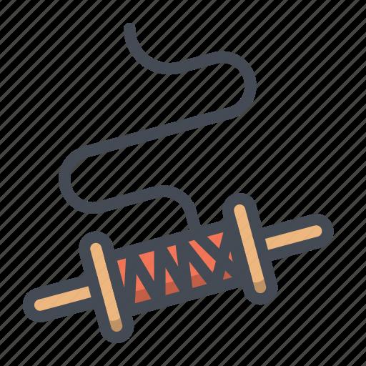 Festival, kite, roller, string, thread, uttarayana icon - Download on Iconfinder