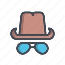 cap, fashion, glass, hat, safety, sunglass, uttarayana icon