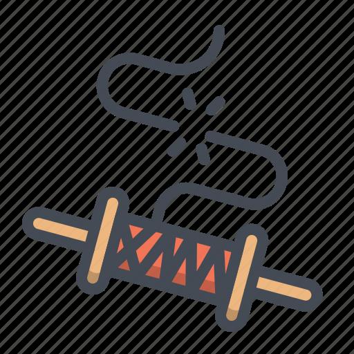 Festival, kite, line, roller, string, thread, uttarayana icon - Download on Iconfinder