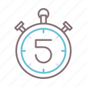 clock, second, test, time icon