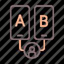 testing, b, a icon