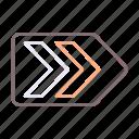 arrow, breadcrumbs, direction