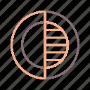 brightness, colour, contrast icon