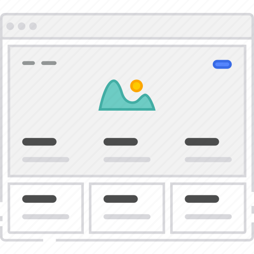 browser, card, columns, flowchart, home, homepage, sitemap, wireframe icon