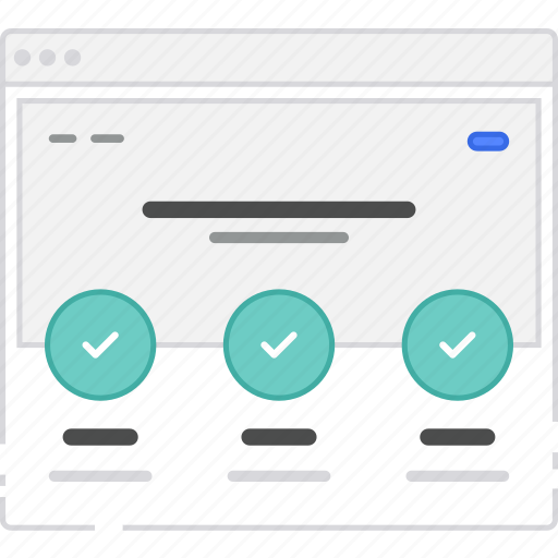 browser, card, features, flowchart, home, homepage, sitemap, wireframe icon