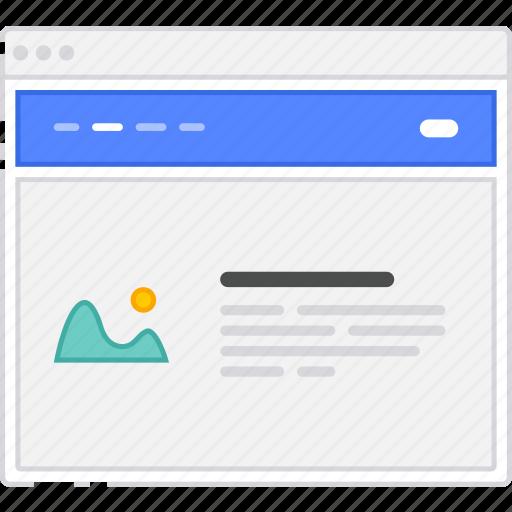 bar, browser, card, flowchart, homepage, menu, sitemap, wireframe icon