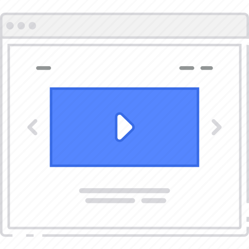 browser, card, flowchart, home, homepage, sitemap, video, wireframe icon