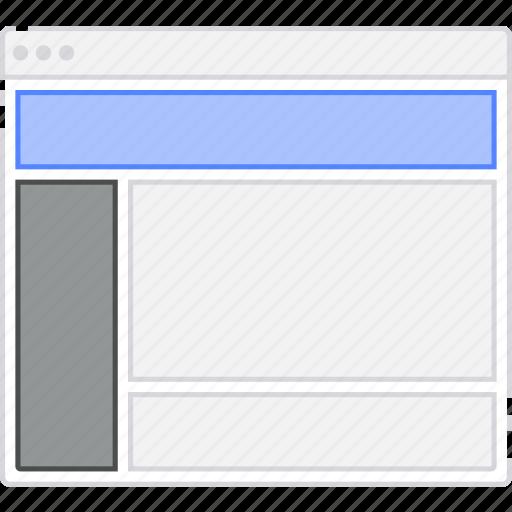 browser, card, column, flowchart, l, layout, menu, sidebar, sitemap icon