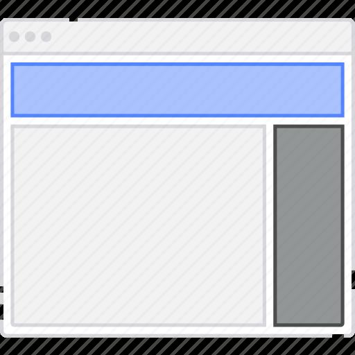 browser, card, column, flowchart, layout, menu, sidebar, sitemap icon