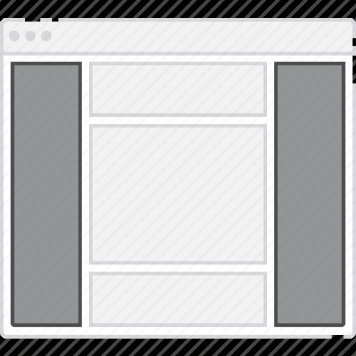 both, browser, card, column, flowchart, layout, sidebar, sitemap icon