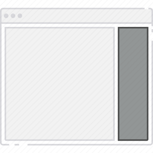 browser, card, column, flowchart, layout, right, sidebar, sitemap icon