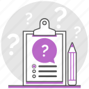 ask, design, poll, question, questionnaire, survey, ux icon