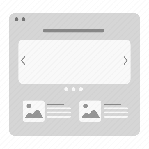 article, home, homepage, landing page, layout, webpage, wireframe icon