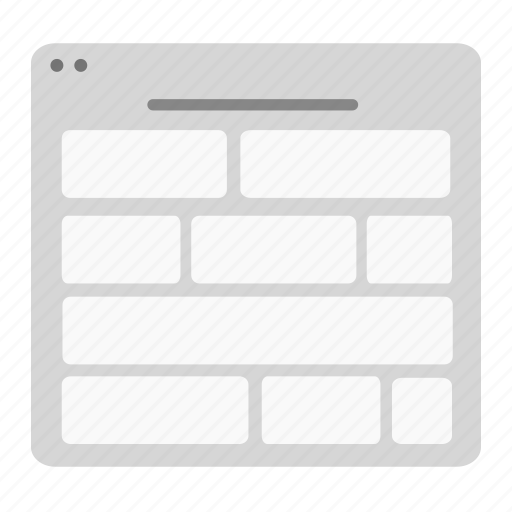 card, colums, design, grid, layout, ui, wireframe icon