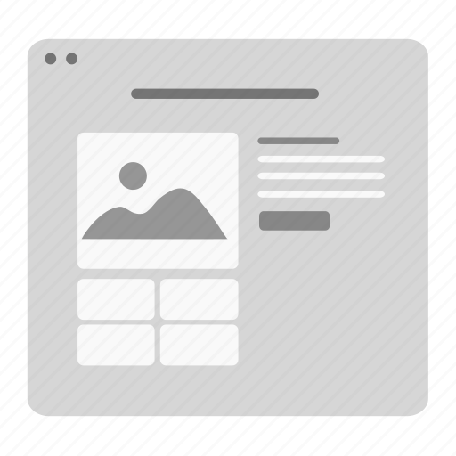 buy, cart, gallery, layout, payment, product, ui icon