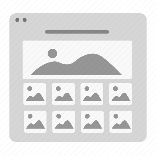 Gallery, image, landscape, layout, photo, picture, stock icon - Download on Iconfinder
