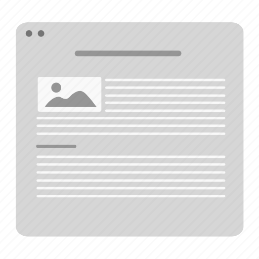 about, article, blog, image, layout, news, webpage icon