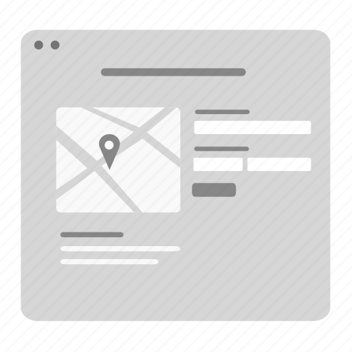 Contact, contact form, contact us, form, map, page icon - Download on Iconfinder