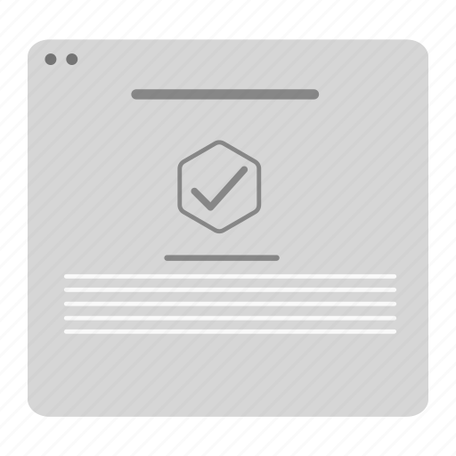 alert, interface, ok, popup, select, wireframe, yes icon