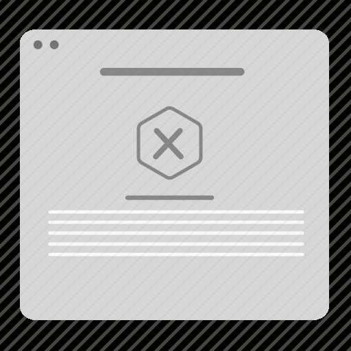 Alert, cancel, delete, erroe, page, ux, wireframe icon - Download on Iconfinder